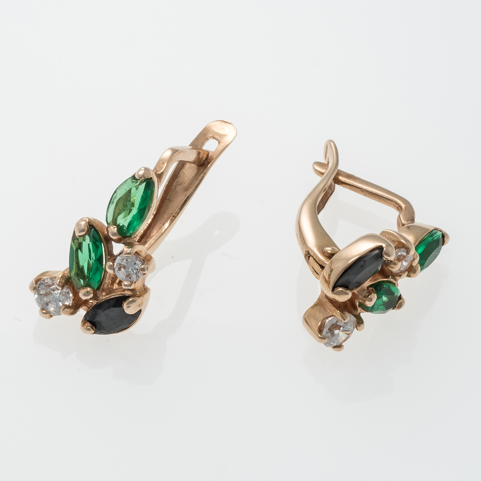 earrings gold il natural bezel fullxfull emerald zoom listing studs
